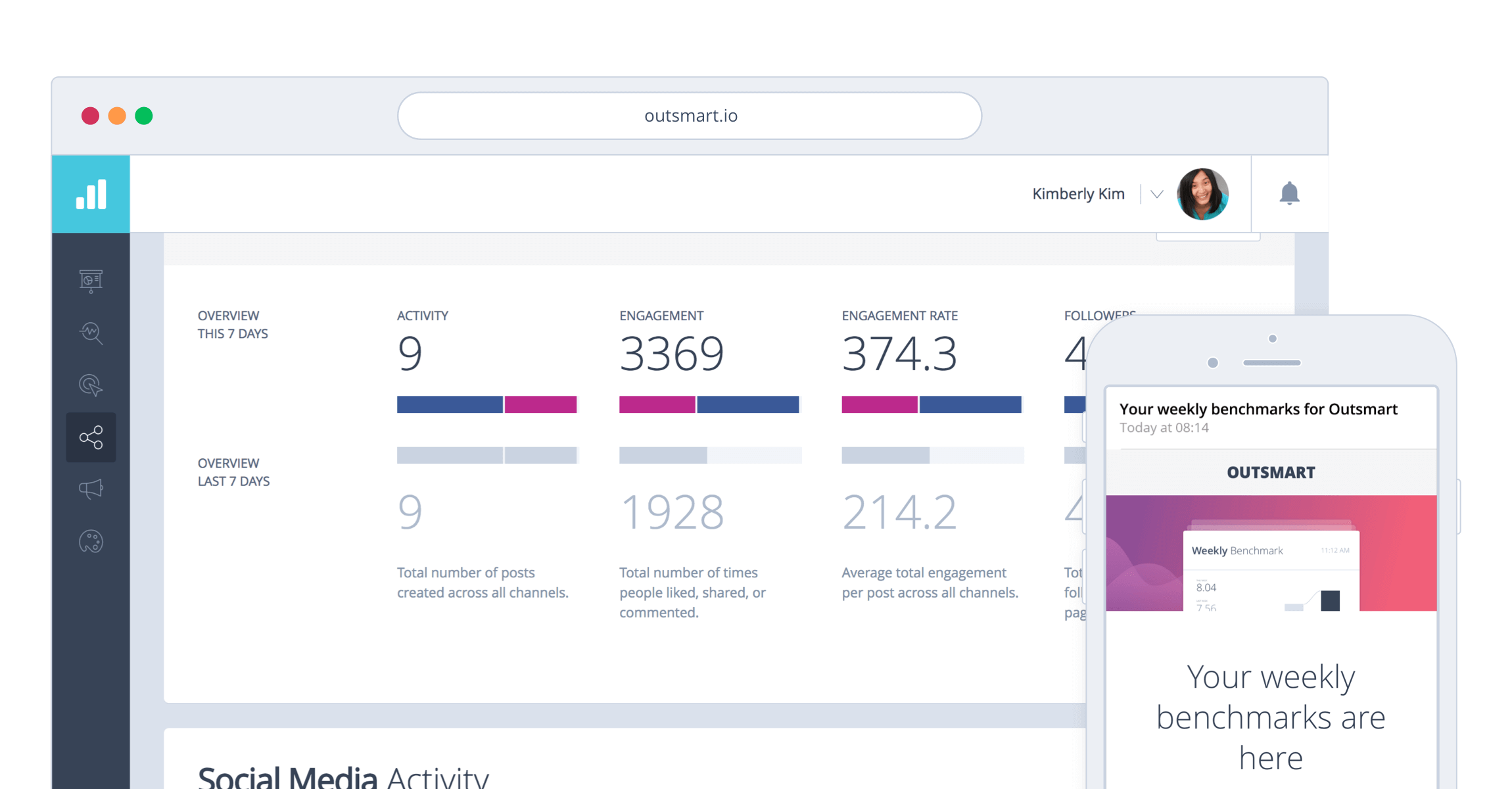 Outsmart Instagram analytics reports that gets delivered directly to your inbox
