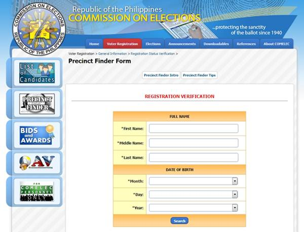 Comelec-Precinct-Finder-Online