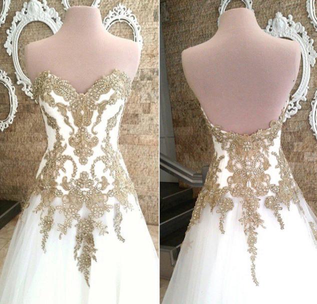 Mak Tumang - Whte and Gold Ball Gown - Santacruzan - Wedding Dress