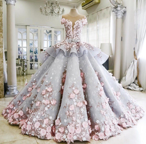 Mak Tumang - Powder Blue Prom Gown - Fairy Tale Gowns