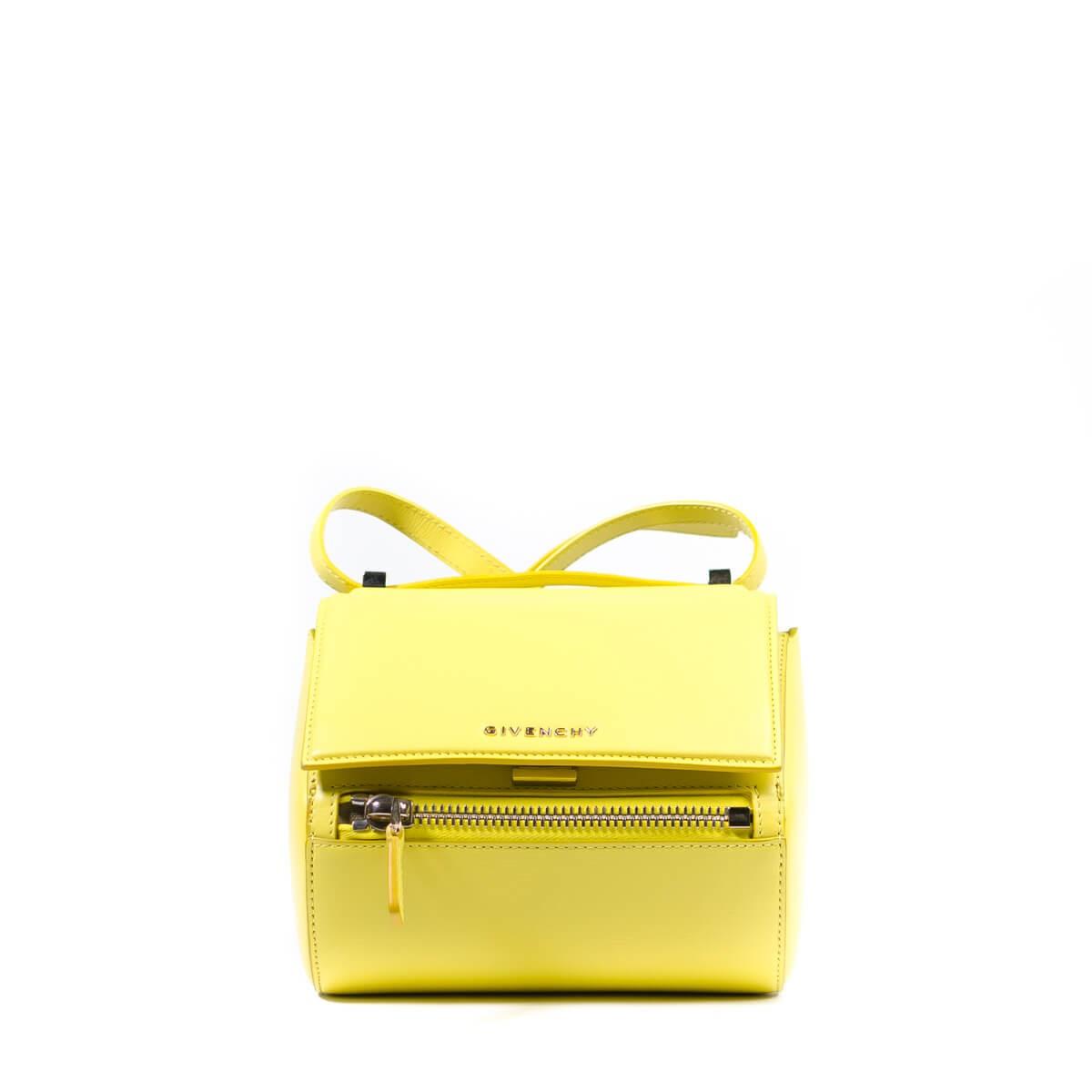 Pandora Box Mini W Light Gold Hardware Yellow Leather Cross Body Bag 8dd7476923765