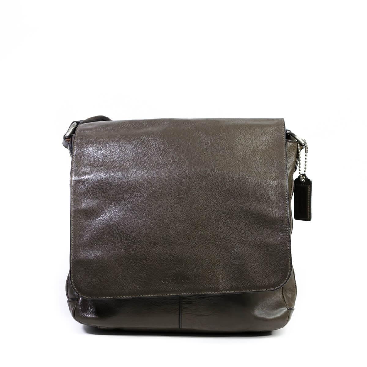 Heritage Web Map Crossbody Travel Men s Luggage Khaki Black Leather Messenger  Bag 493d95eec105d