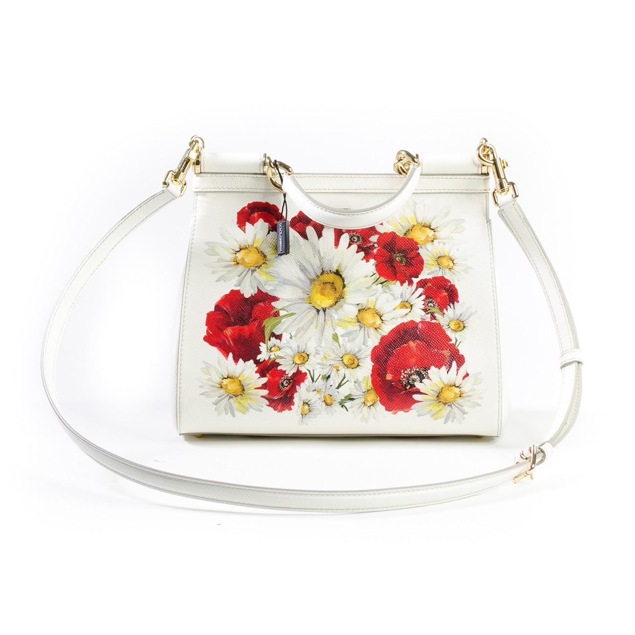 8b2936cfc7 Dolce and Gabbana Sicily handbag in Printed Dauphine Calfskin