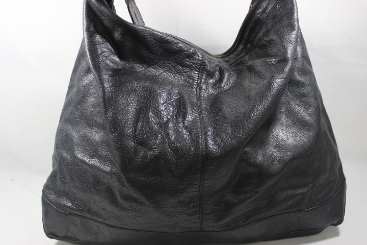 052d7078d9 Balenciaga The Courier 159671 Black Leather Shoulder Bag Buy Online ...