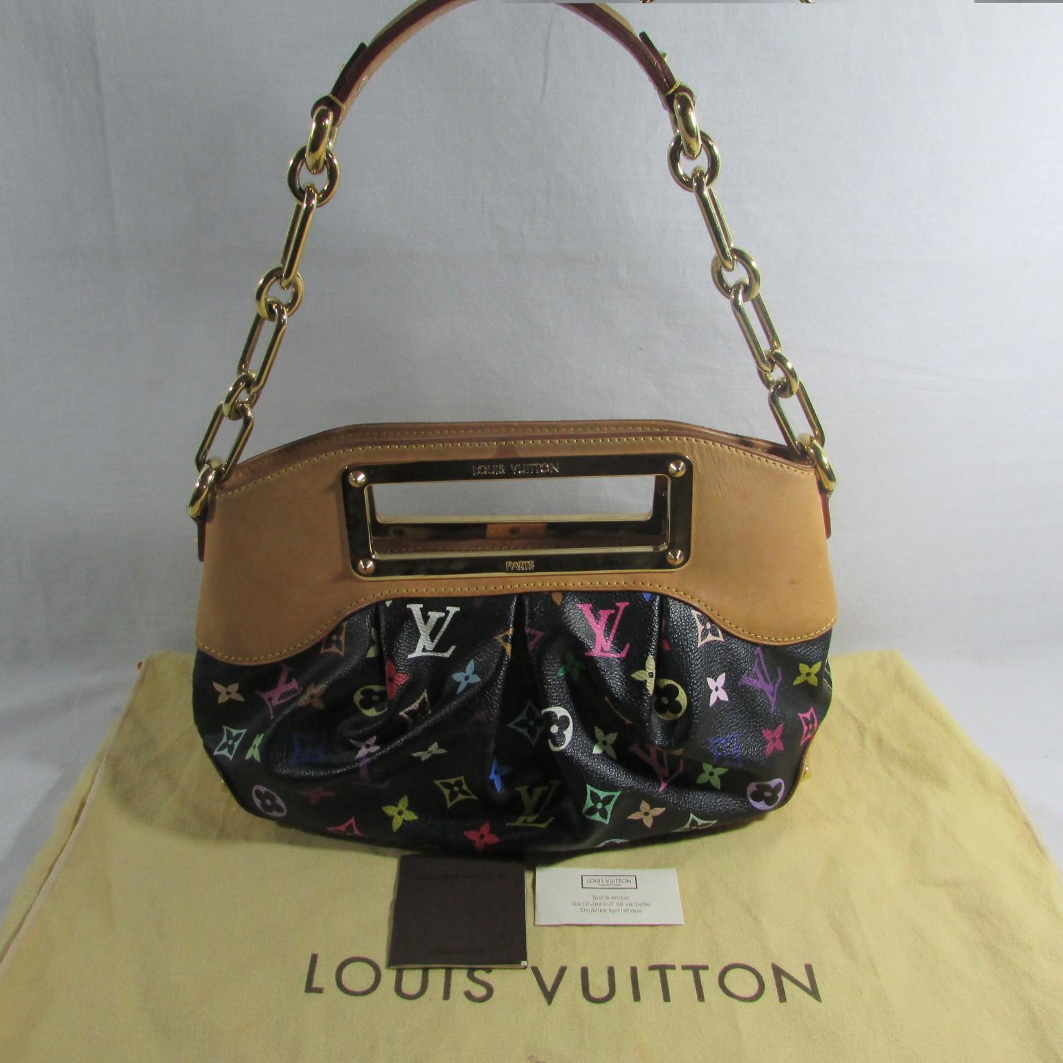 8d15db750c46 ... Louis Vuitton Black Monogram Multicolor Judy PM Bag lightbox moreview  ...