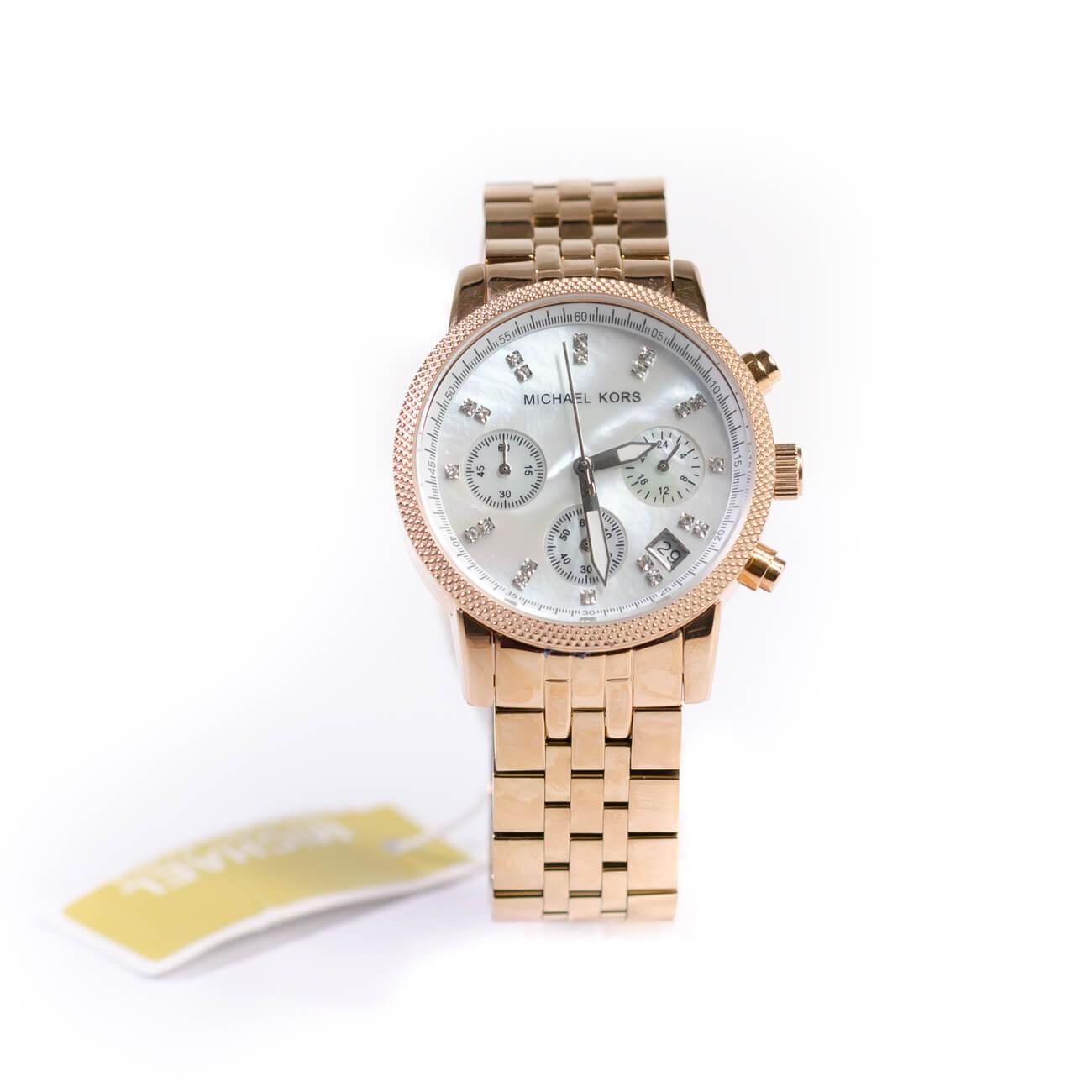 e669429726735 Michael Kors Ladies Rose Gold Damen Watch