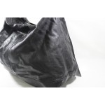 11c44a5f12 lightbox moreview · Balenciaga The Courier 159671 Black Leather Shoulder Bag