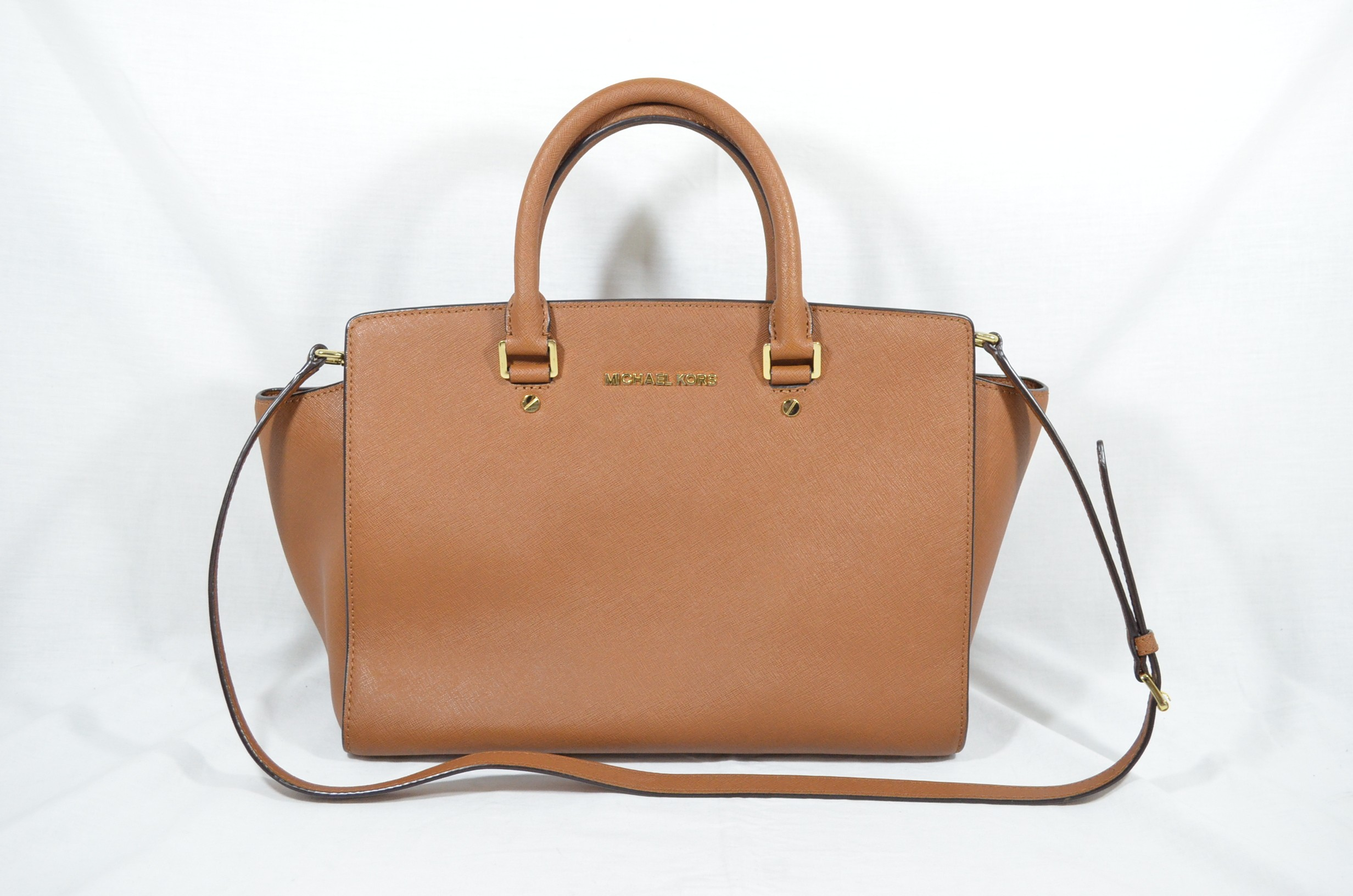 0360c515e21b Michael Kors Large Selma Top-Zip Satchel Luggage Saffiano leather ...