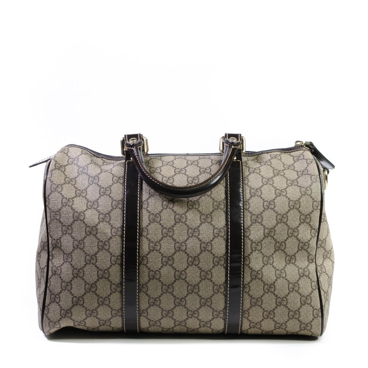 29abdc3cf Gucci. GG Plus Dark Brown Monogram Medium Joy Boston Bag