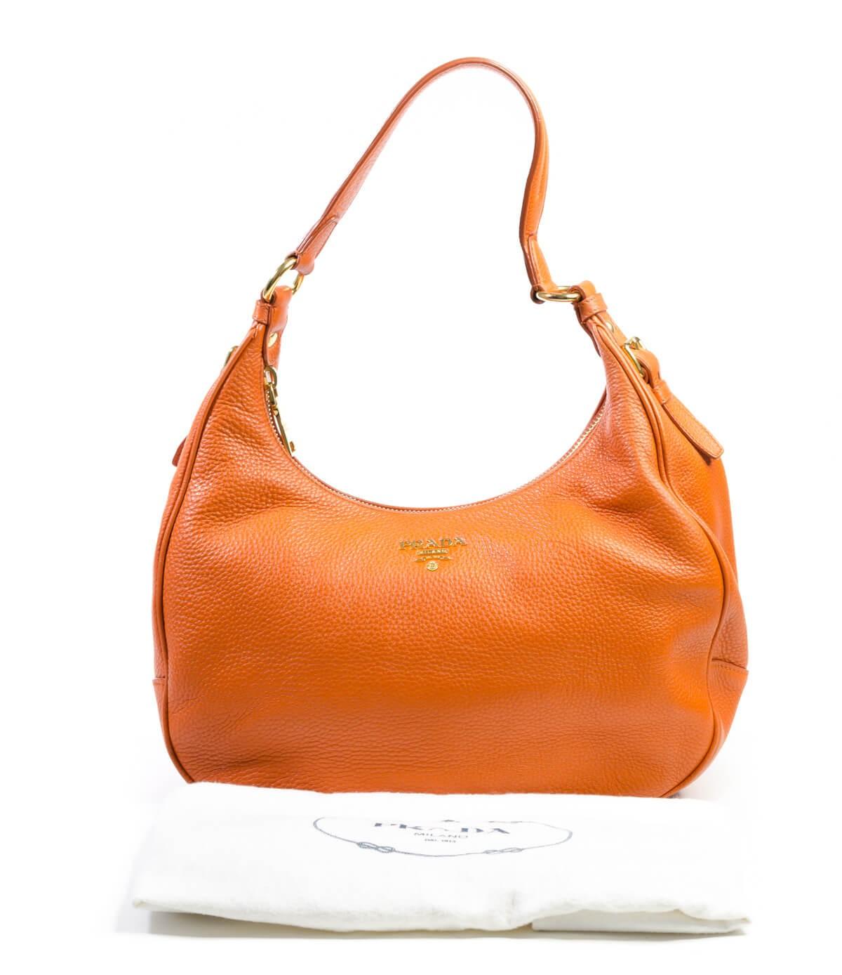 8cbf1410426 Prada. Vitello Daino Leather Zip-Top Hobo Bag