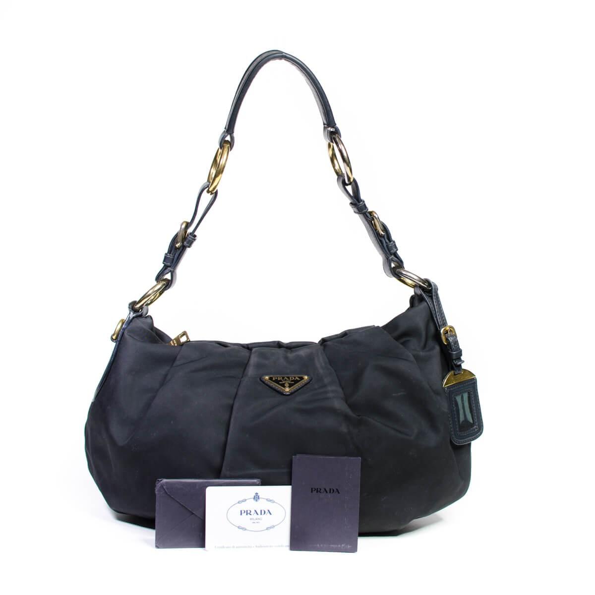 53aacbc9e9 Prada Tessuto Nylon Shoulder Bag Nero Black
