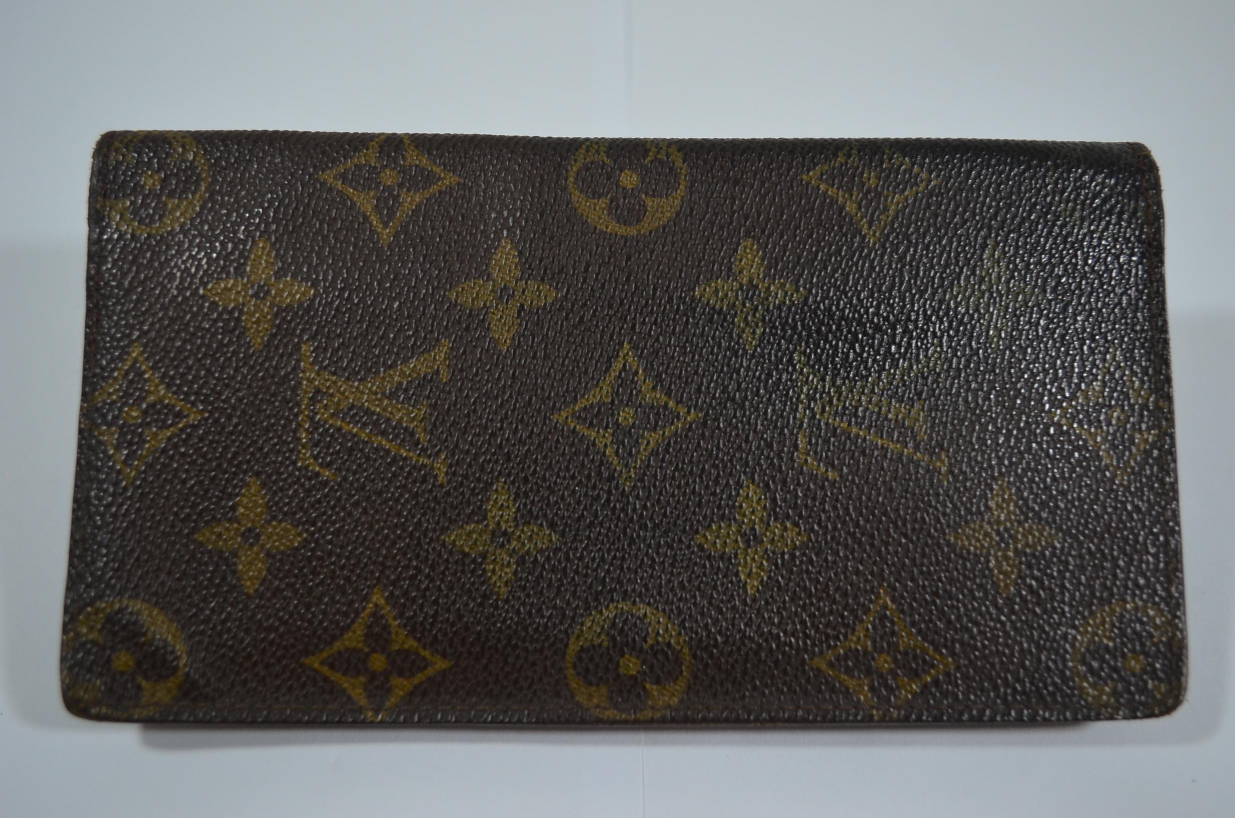 Louis Vuitton checkbook cover wallet