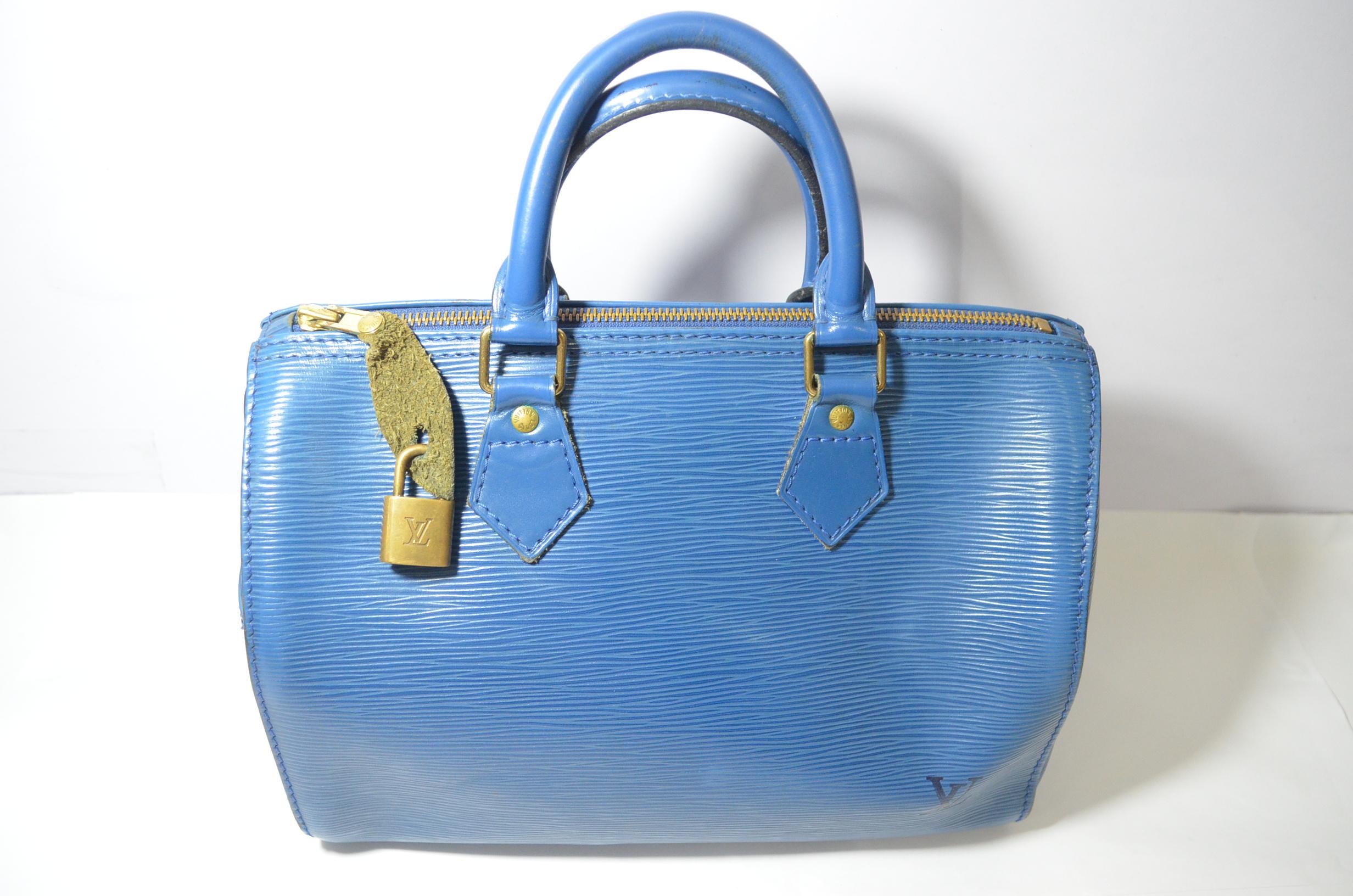 Louis Vuitton Epi Speedy Bag (Toledo Blue)