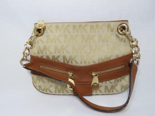 Michael Kors Jacquard Leather Jamesport Small Shoulder Bag