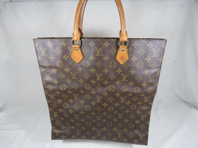 Louis Vuitton Monogram Sac Plat Tote Bag Purse