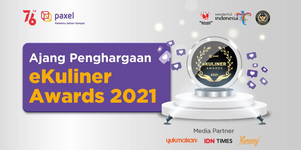 """Dukung Perkembangan Produk Kuliner Online di Indonesia, Kemenparekraf Bersama Paxel Memberikan Penghargaan """"eKuliner Awards 2021""""  Ke 13 Pelaku UMKM"""