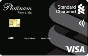 Standard Chartered Platinum Rewards Card- Features, Benefits and Fees.  Apply now.