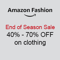 End of Seasons Sale 40% - 70% Off on Clothing