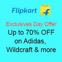 Exclusive Day Offer Up To 70% Off on Adidas, Wildcraft & More