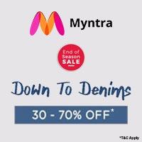 Myntra Denim Sale Upto 70% Off