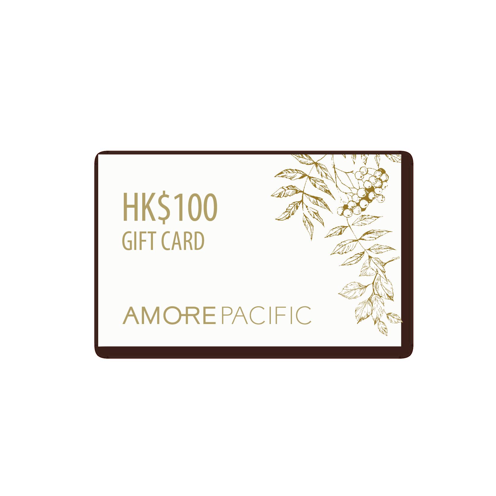 HK$100 產品禮券