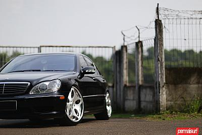 MERCEDES BENZ W220 WITH FORGIATO ALIENO ECL