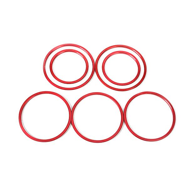 A/C Air Vent Outlet Ring Cover Trim Red for Merced