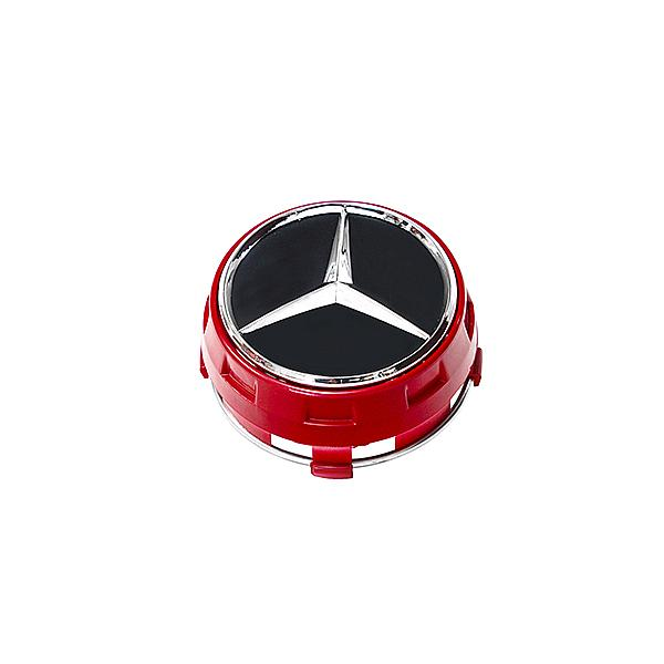 AMG center caps Red