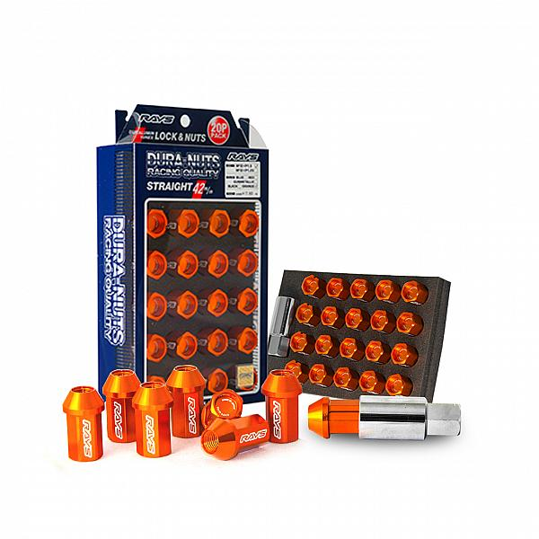 L42 Duralumin Straight Lock & Nut Set Orange