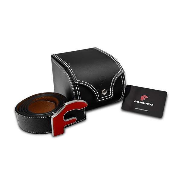 Forgiato Leather Belt Red