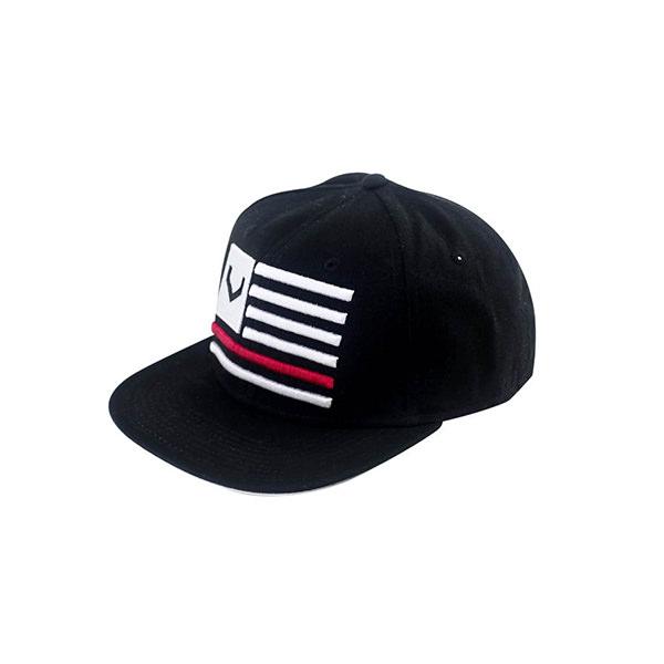 Snapback Black V Flag