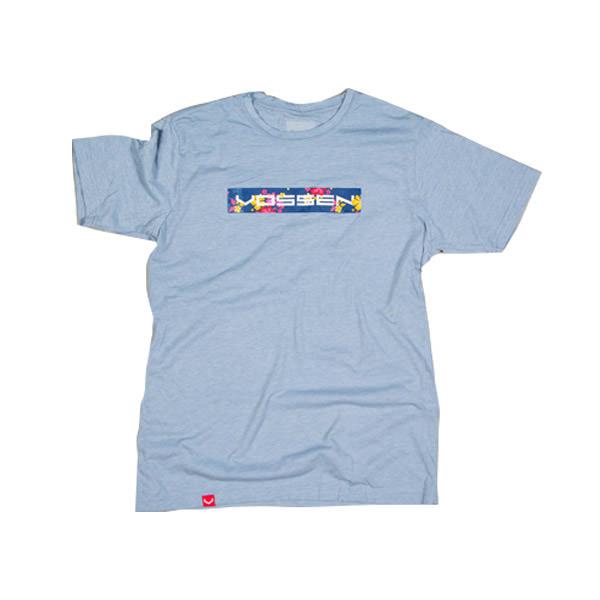 T-Shirt Mens Blue Floral