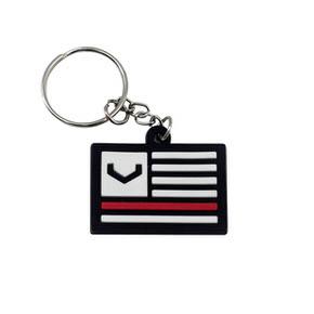 Key Ring Black V Flag
