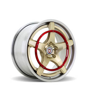 Recoil Brushed Gold w/ Ring Brushed Red 18