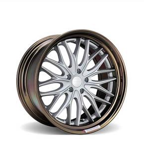 VWS-2 Matte Silver Gloss Bronze Anodized Lip