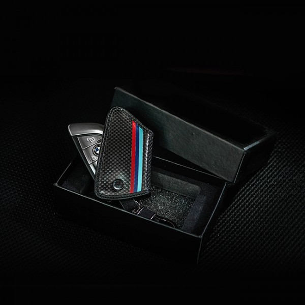 Carbon Fiber Key Case Cover BMW