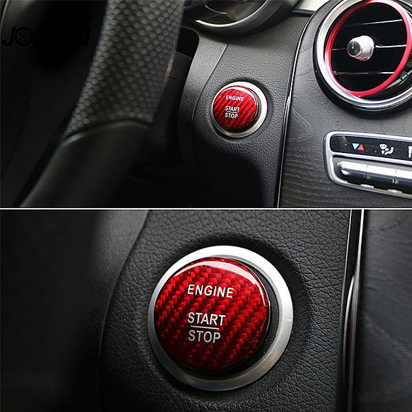 Carbon Engine Start Stop Button Trim Sticker