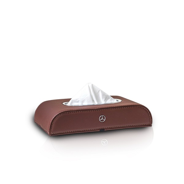 Tissue Box Mercedes Benz Brown