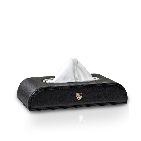Tissue Box Porsche Black