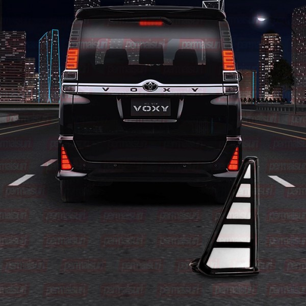 Stop Lamp Reflector Voxy Led Stripe Black