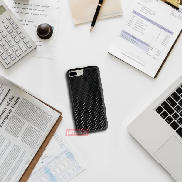 Case Carbon Fiber Glossy for Iphone 8 Plus