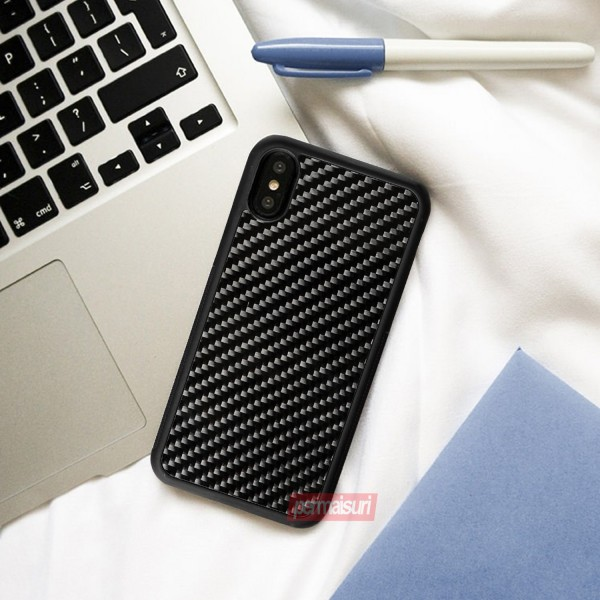 Case Carbon Fiber Glossy for Iphone X-XS
