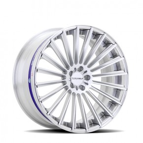 Razor Polished Brushed Silver/Gloss Silver 22