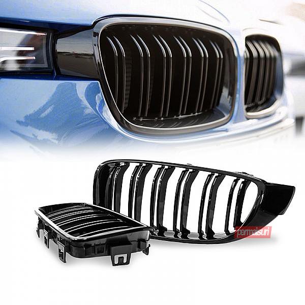 Grille F32 Gloss Black Dual Slat Style M4