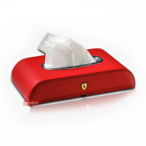 Tissue Box Ferrari Red