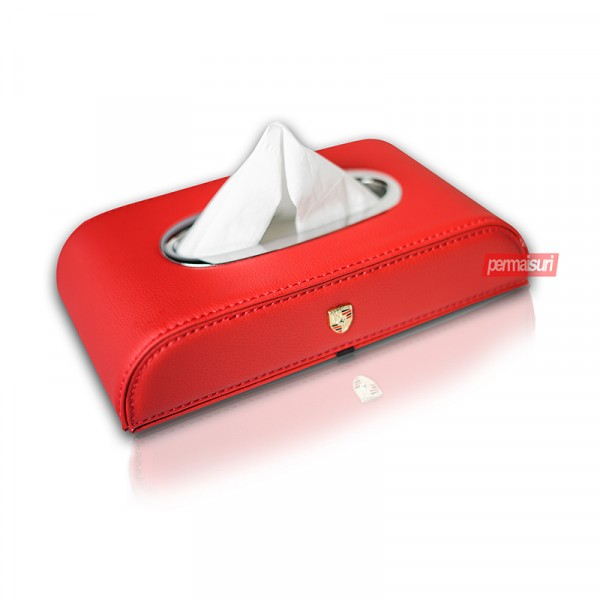 Tissue Box Porsche Red