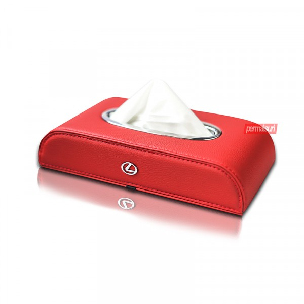 Tissue Box Lexus Red