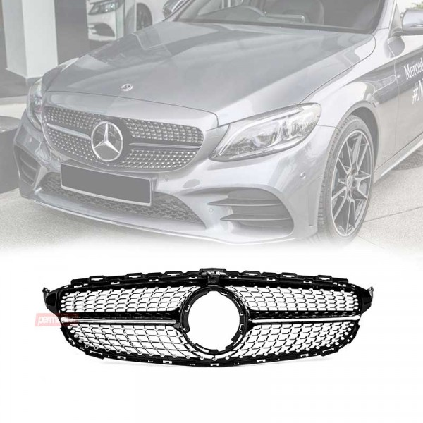 Grille Mercedes Benz W205 Style Diamond Facelift