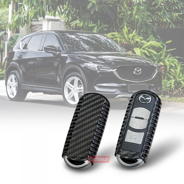 Key Case Carbon Black Mazda