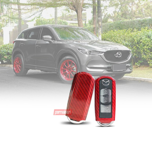 Key Case Carbon Red Mazda